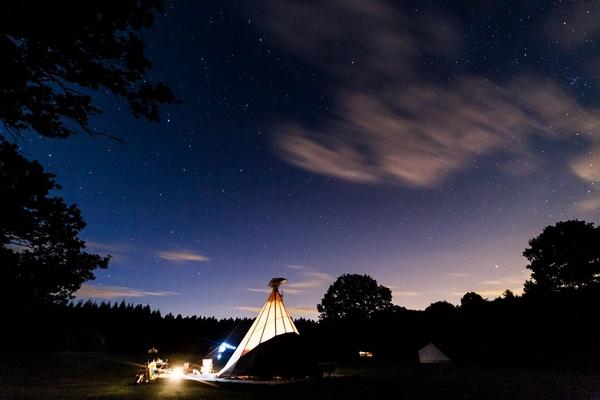 Tipi at Camp Katur