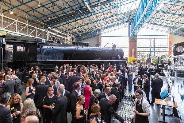 Event inside railway museum