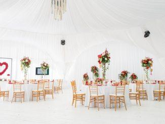 Marquee wedding interior