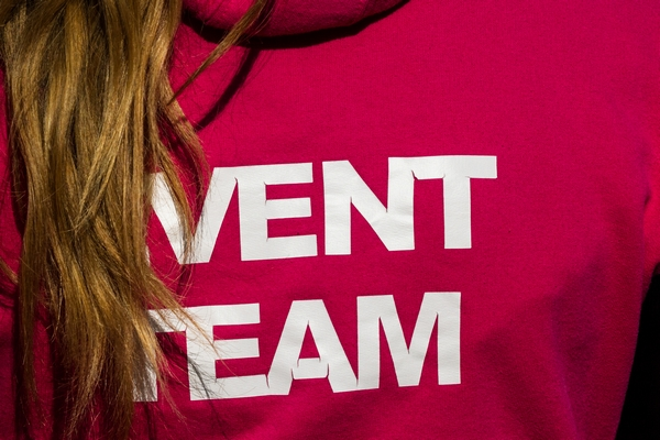 A t-shirt with Event Team written on it