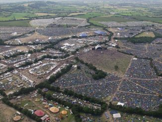 Ariel view of Glastonbury