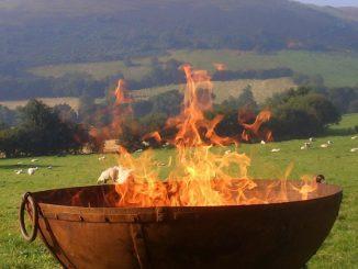 Fire in a firebowl