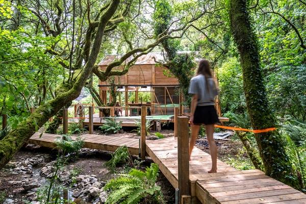 Carlesberg cabin at Kudhva in Cornwall