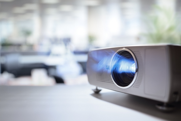Projector for corporate presentation