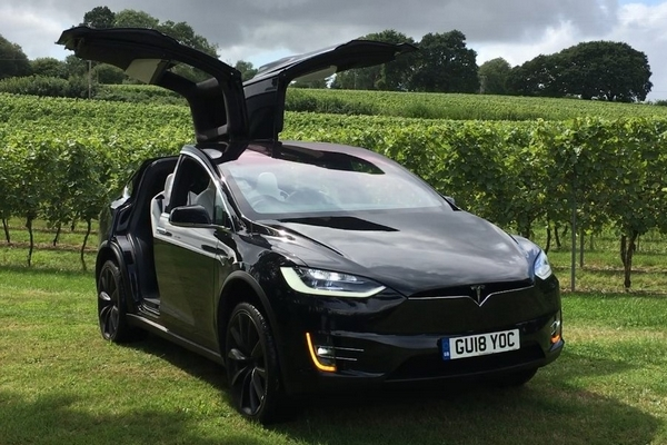 Tesla at outdoor function venue