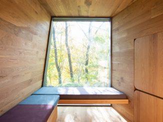Glamping cabin interior