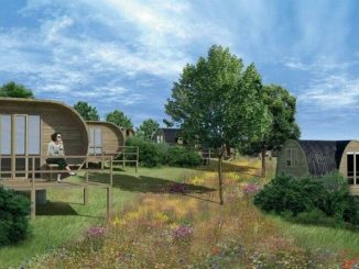 Glamping pods at Bodmin Jail