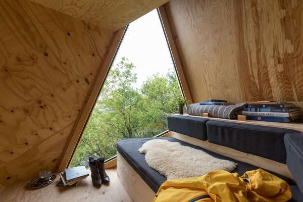 Interior of Kudhva hideout glamping cabin