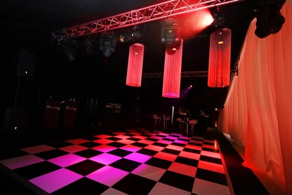 Dance floor in wedding marquee
