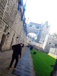 Tower of London walkway
