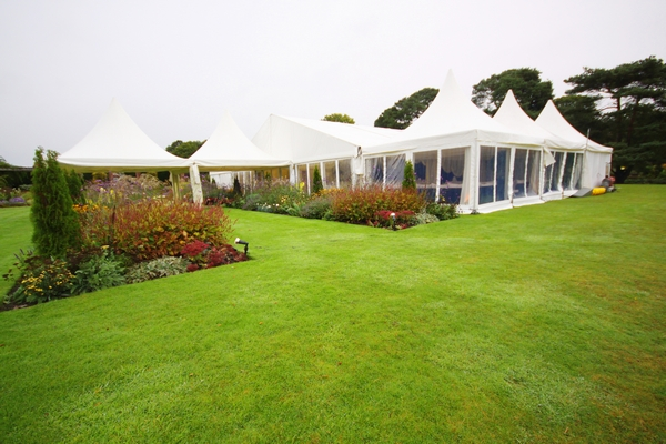 A wedding marquee at Abbeywood Estate and Gardens