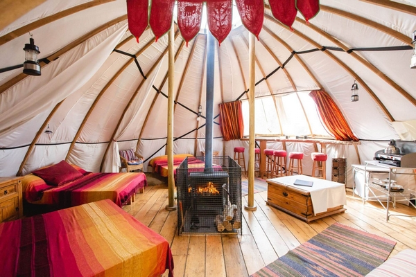 Picture of accomodation at Larkhill Tipis and Yurts, Wales