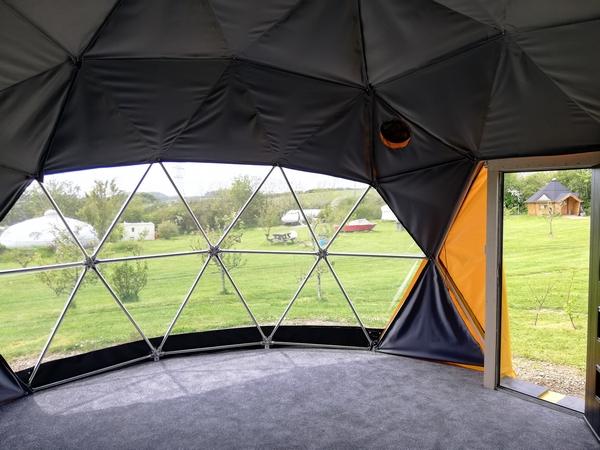 Interior of Apple Camping accomodation