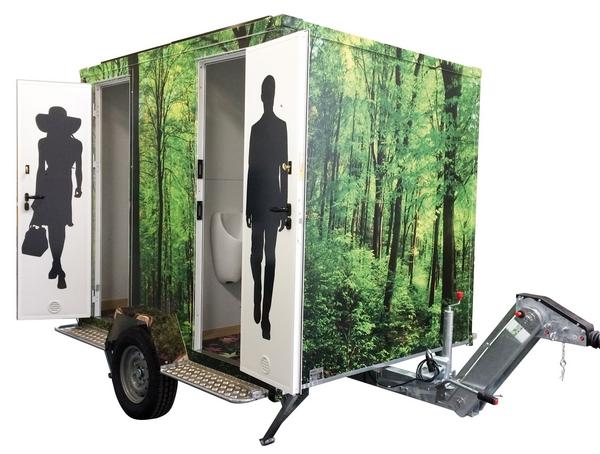 Solar powered restroom unit