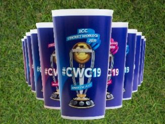 Green goblet cups at the cricket World Cup 2019