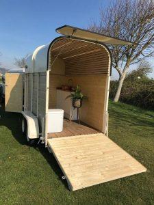 Show-Tow portable toilet trailer