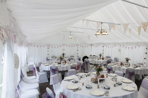 Inside of a wedding venue