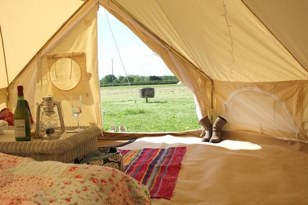 Interior of tent