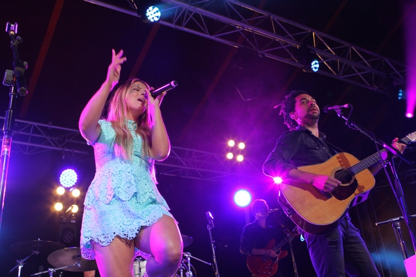 The Shires performing at Towersey Festival