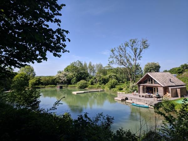 Cabin by a lake