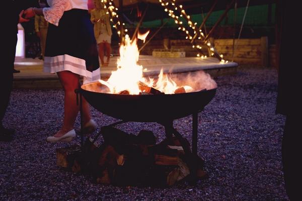 Firepit outside