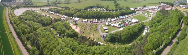 Aerial view of bush craft festivall