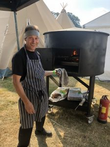Woodburner at cornbury festival