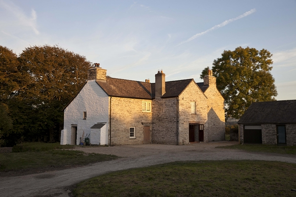 Fforest farmhouse at sunset