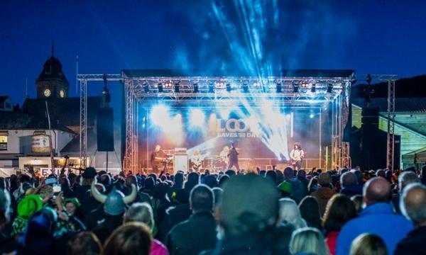 Looe festival main stage