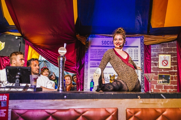 Shambala Festival bar maid