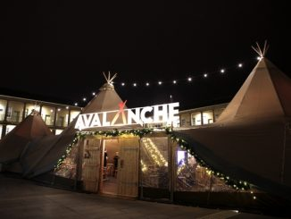 Avalanche marquee at the Piece Hall