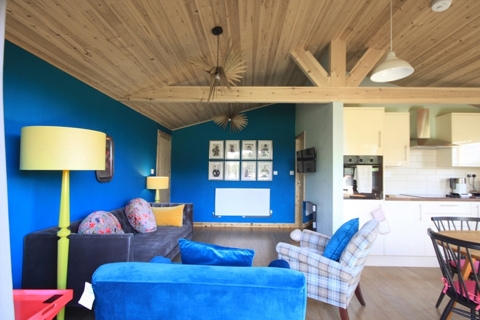 Glamping interior design at Brook Meadow