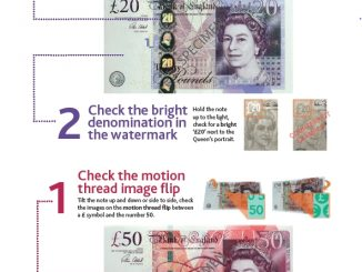 How to determine counterfeit banknotes