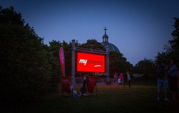 Fred Roche outdoor cinema screen