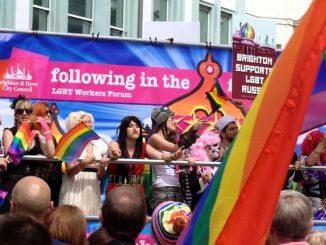 Pride event in Brighton