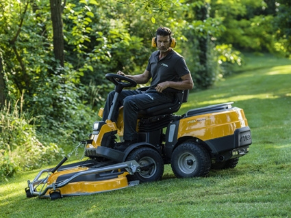 Lawnmower being used in ground maintenance
