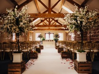 Heaton House Farm indoor wedding space