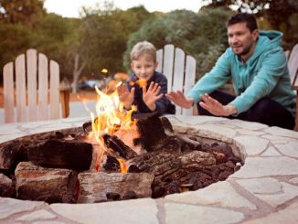 Firepit at a glampsite