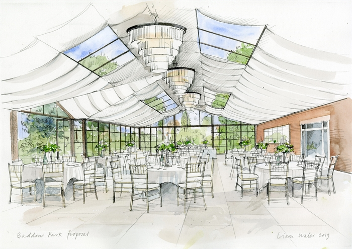 Redesigned orangery at Baddow Park