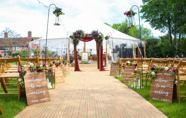 Marquee floors by William Armes set up for a wedding