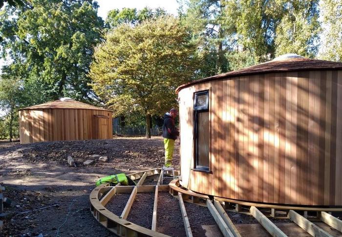 Building site mid-build