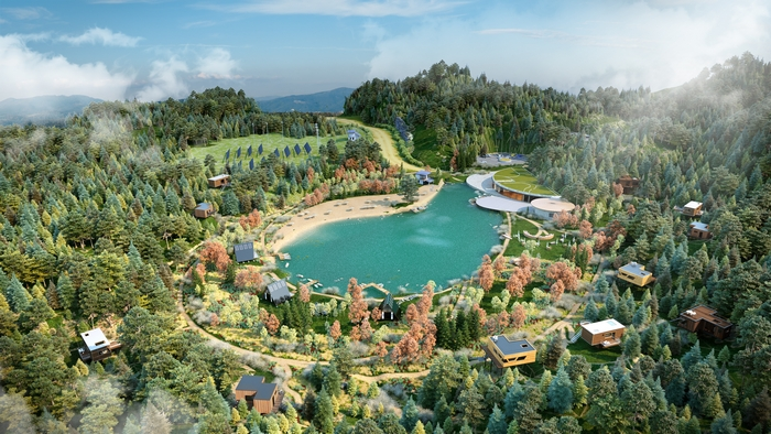 """Plan for new Oasis """"Off-Grid"""" Eco Wellness Resort"""