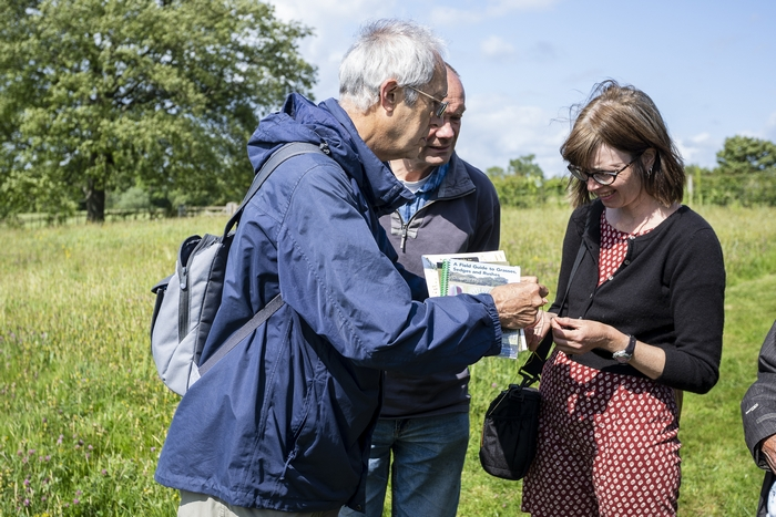 Conservationists in field