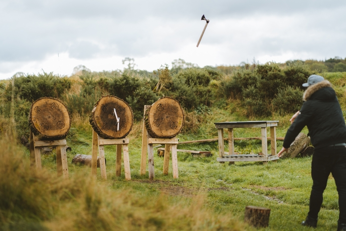 The Forge axe throwing activity