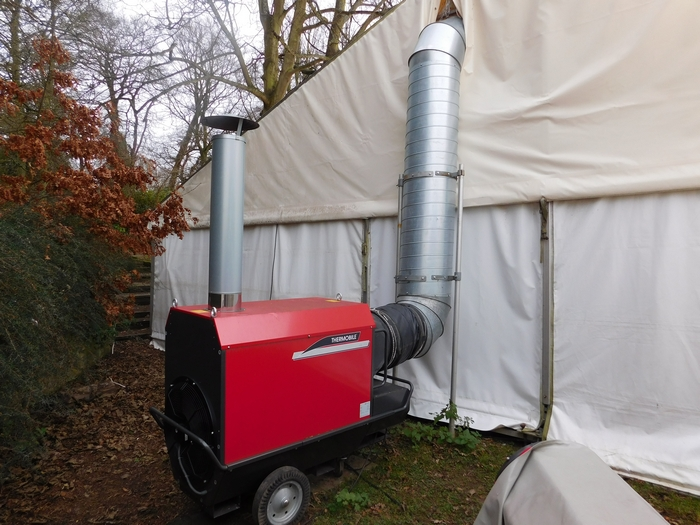 Thermobile marquee heating