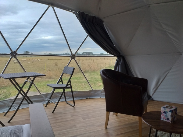 Glamping dome interior from TruDomes