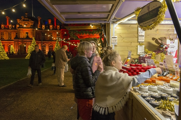 People buying food at Waddesdon Manor event