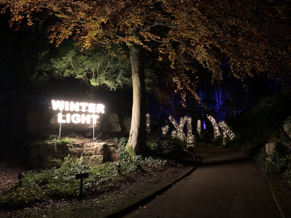 Sign at Waddesdon Manor describing the Winter Light event