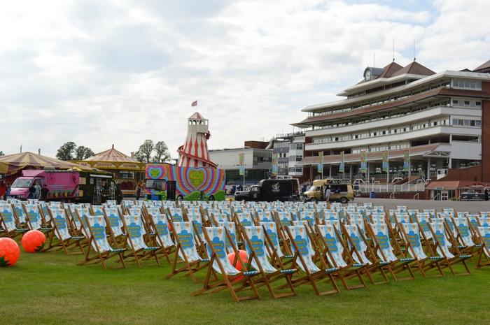Newbury Racecourse new deck chairs