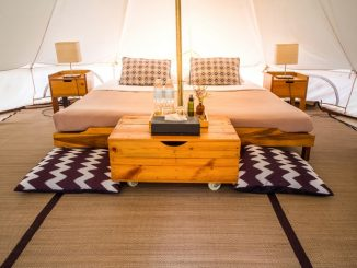 Traditional canvas bell tent, in Thailand.
